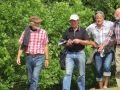 Fire vandrefugle på vej hjem efter en god gåtur.